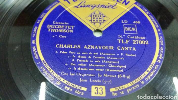 Discos de vinilo: Charles Aznavour. Disco 33 rpm. Década 1950. Telefunken TLF 27002 - Foto 6 - 194263066