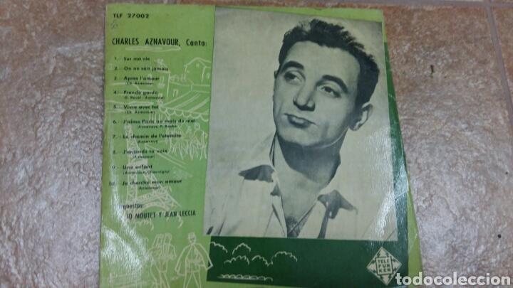 CHARLES AZNAVOUR. DISCO 33 RPM. DÉCADA 1950. TELEFUNKEN TLF 27002 (Música - Discos - LP Vinilo - Canción Francesa e Italiana)