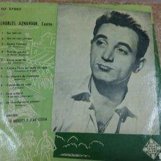 Discos de vinilo: CHARLES AZNAVOUR. DISCO 33 RPM. DÉCADA 1950. TELEFUNKEN TLF 27002. Lote 194263066