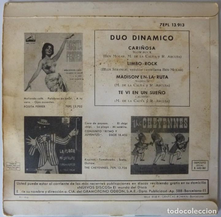 Discos de vinilo: DUO DINAMICO // CARIÑOSA+3 // 1963 // EP - Foto 2 - 194264045