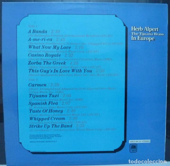 Discos de vinilo: HERB ALPERT // IN EUROPA // 1974 // BENELUX // (VG VG). LP - Foto 2 - 194264670