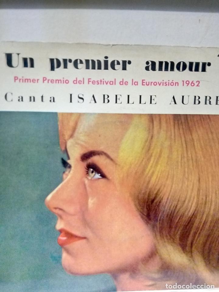 Discos de vinilo: Isabelle aubret..un premier amour -ganadora del festival de Eurovisión 1962 - Foto 2 - 194268228