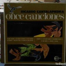 Discos de vinilo: RICARDO CANTALAPIEDRA - ONCE CANCIONES - LP. DEL SELLO DISCOTECA PAX 1970. Lote 194269266