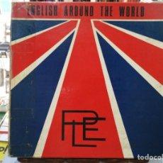 Discos de vinilo: COLECCIÓN ENGLISH AROUND THE WORLD - TOMOS I,II Y III - 5 LPS SINTONÍA 1972. Lote 194270276