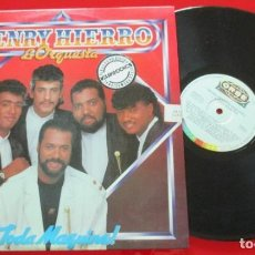 Discos de vinilo: HENRY HIERRO & ORQUESTA A TODA MÁQUINA VINILO ORIGINAL 1992 LP VENEZUELA. Lote 194272692