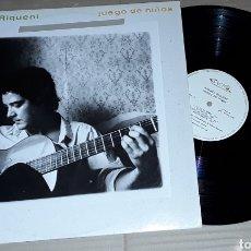 Discos de vinilo: LP- RAFAEL RIQUENI - JUEGO DE NIÑOS - CON RAIMUNDO AMADOR, CARLES BENAVENT,TOMATITO,JOSÉ HEREDIA. Lote 194274247