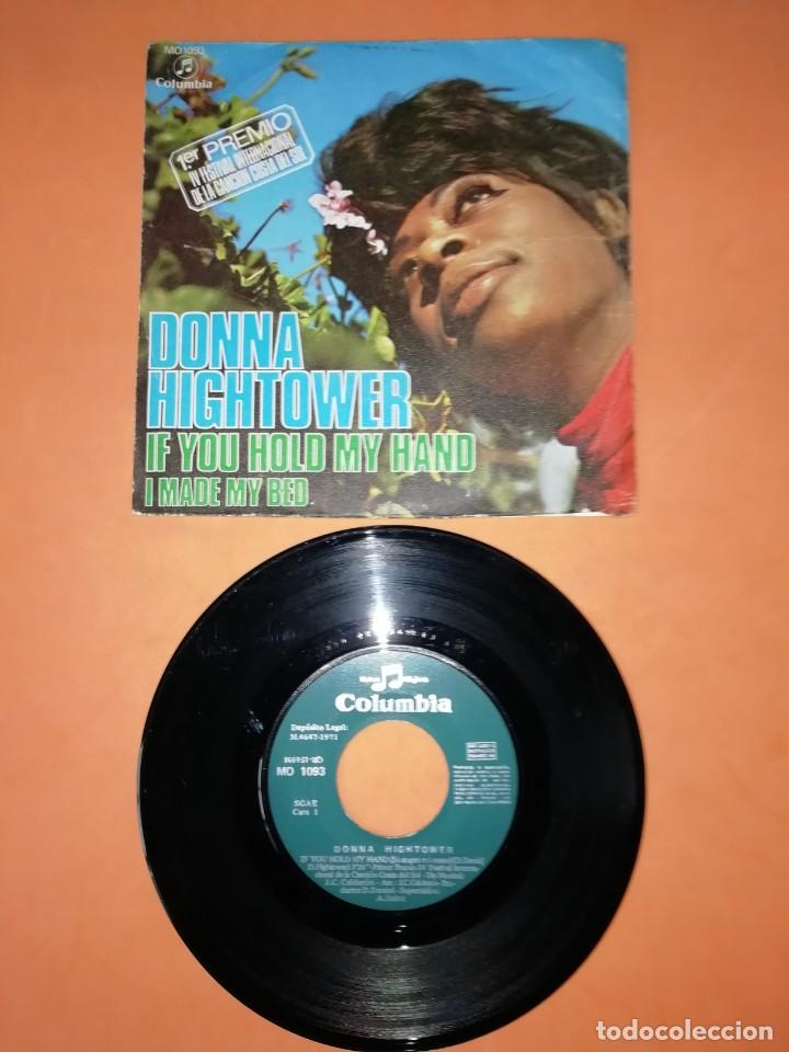 DONNA HIGHTOWER. IF YOU HOLD MY HAND. COLUMBIA RECORDS. 1971. (Música - Discos - Singles Vinilo - Funk, Soul y Black Music)