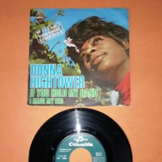 Discos de vinilo: DONNA HIGHTOWER. IF YOU HOLD MY HAND. COLUMBIA RECORDS. 1971.. Lote 194274580