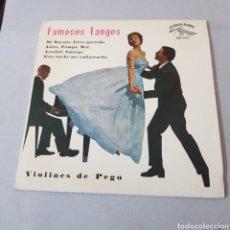 Discos de vinilo: FAMOSOS TANGOS - VIOLINES DE PEGO - CUBALEGRE. Lote 194275147