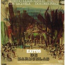 Discos de vinilo: EXITOS DE ZARZUELAS VOL. 1 - KRAUS / AUSENSI / SAGI VELA / DOLORES PEREZ - LP 1974. Lote 194276097