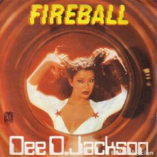 Discos de vinilo: DEE D. JACKSON - FIREBALL / FALLING INTO SPACE - SINGLE 1979. Lote 194278296