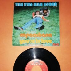 Discos de vinilo: THE TWO MAN SOUND. COPACABANA. YOU,RE IN LOVE. POLYDOR 1972. Lote 194278400