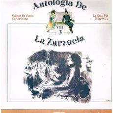 Discos de vinilo: ANTOLOGIA DE LA ZARZULA Nº 3 - ORQUESTA LIRICA GRAN VIA - DIR LUIS A. JANER - LP 1986 - BUEN ESTADO. Lote 194279768