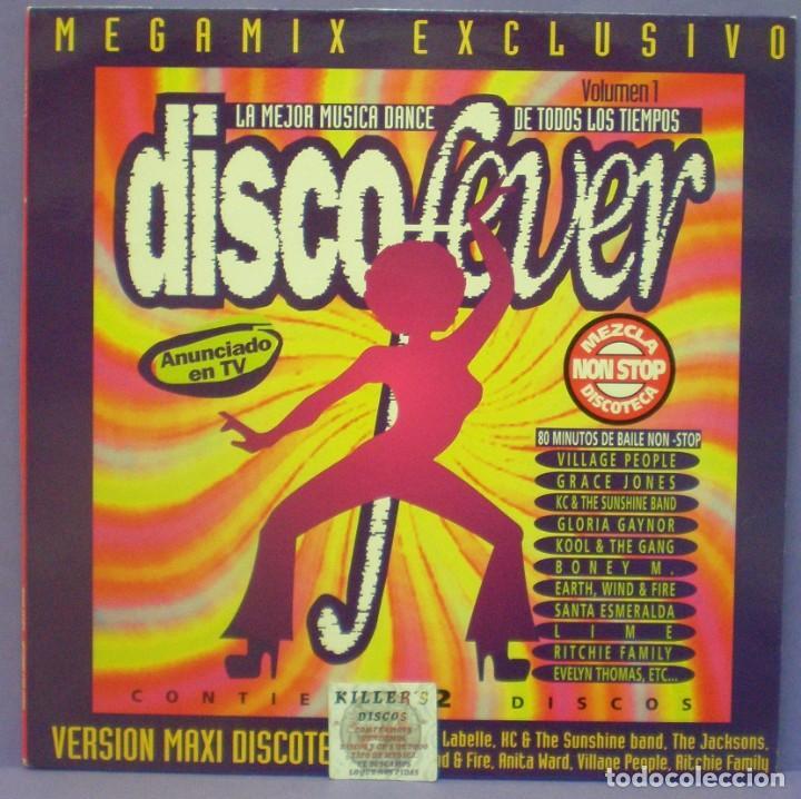DISCO FEVER MEGAMIX (VOLUMEN 1) - MAXI 12', MIXED, PROMO (Música - Discos de Vinilo - Maxi Singles - Disco y Dance)