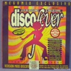 Discos de vinilo: DISCO FEVER MEGAMIX (VOLUMEN 1) - MAXI 12', MIXED, PROMO. Lote 194290241