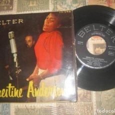 Discos de vinilo: ERNESTINE ANDERSON - MY MAN + 3 (EP DE 4 CANCIONES)( BELTER 195?) OG ESPAÑA. Lote 194290775
