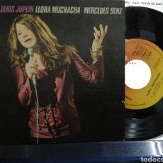 Discos de vinilo: JANIS JOPLIN SINGLE LLORA MUCHACHA ESPAÑA 1971. Lote 194291563