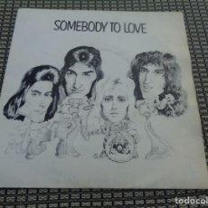 Discos de vinilo: QUEEN SINGLE SOMEBODY TO LOVE HARD SPAIN MINT- MEGARARE. Lote 194296173