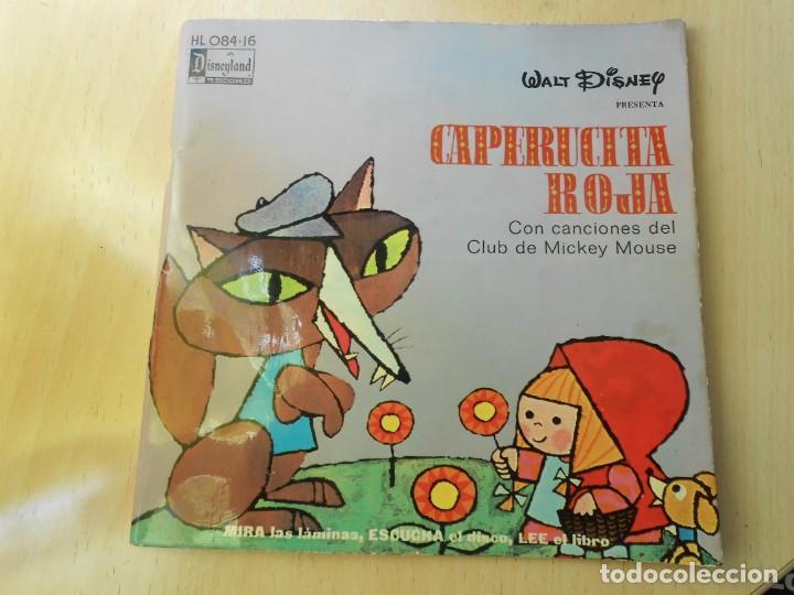WALT DISNEY - CAPERUCITA ROJA -, EP , CUENTO + 1, AÑO 1971 (Música - Discos de Vinilo - EPs - Música Infantil)