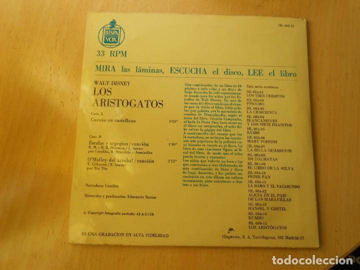 Discos de vinilo: WALT DISNEY - LOS ARISTOGATOS -, EP , CUENTO + 1, AÑO 1971 - Foto 11 - 194297543