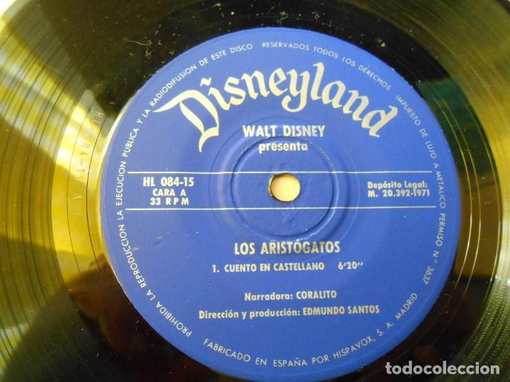 Discos de vinilo: WALT DISNEY - LOS ARISTOGATOS -, EP , CUENTO + 1, AÑO 1971 - Foto 12 - 194297543