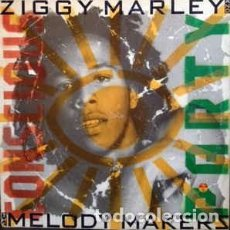 Discos de vinilo: ZIGGY MARLEY AND THE MELODY MAKERS– CONSCIOUS PARTY - LP SPAIN 1988. Lote 194300510