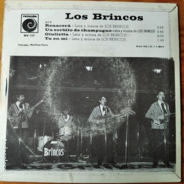 Discos de vinilo: LOS BRINCOS EP 1966- RENACERA/ UN SORBITO DE CHAMPAGNE/ TU EN MI/ GIULIETTA - Foto 2 - 194302290