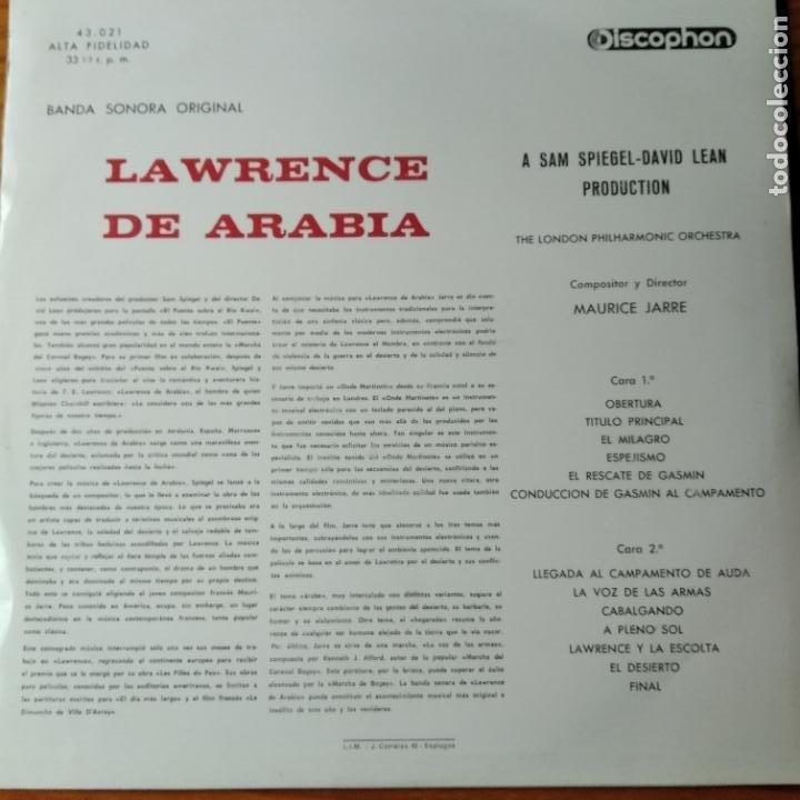 Discos de vinilo: LAWRENCE OF ARABIA - LP DE LA BANDA SONORA- - Foto 2 - 194303596