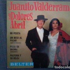 Discos de vinilo: JUANITO VALDERRAMA Y DOLORES ABRIL - PELEA EN BROMA + 3 TEMAS - EP BELTER 1968. Lote 194304467