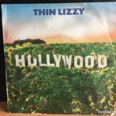 """Discos de vinilo: THIN LIZZY - HOLLYWOOD (DOWN ON YOUR LUCK) (7"""", SINGLE) (VERTIGO) (D:VG+). Lote 194306593"""