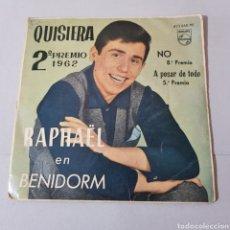 Discos de vinilo: RAPHAEL EN BENIDORM 2° PREMIO - QUISIERA - NO - A PESAR DE TODO - PERDONA , OTELO. Lote 194307136