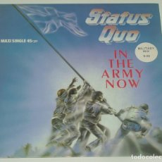 Discos de vinilo: STATUS QUO - IN THE ARMY NOW / HEARTBURN / LATE LAST NIGHT - VERTIGO SPAIN 1987. Lote 194307878