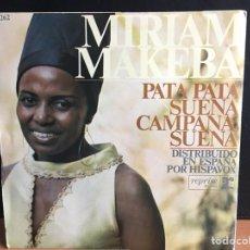 Discos de vinilo: MIRIAM MAKEBA - PATA PATA (SINGLE) (REPRISE RECORDS) H-262 (D:NM). Lote 194308855
