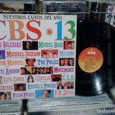 Discos de vinilo: LMV - CBS 13. NUESTROS ÉXITOS DEL AÑO. CBS 1983, REF. S 25614. Lote 194309006