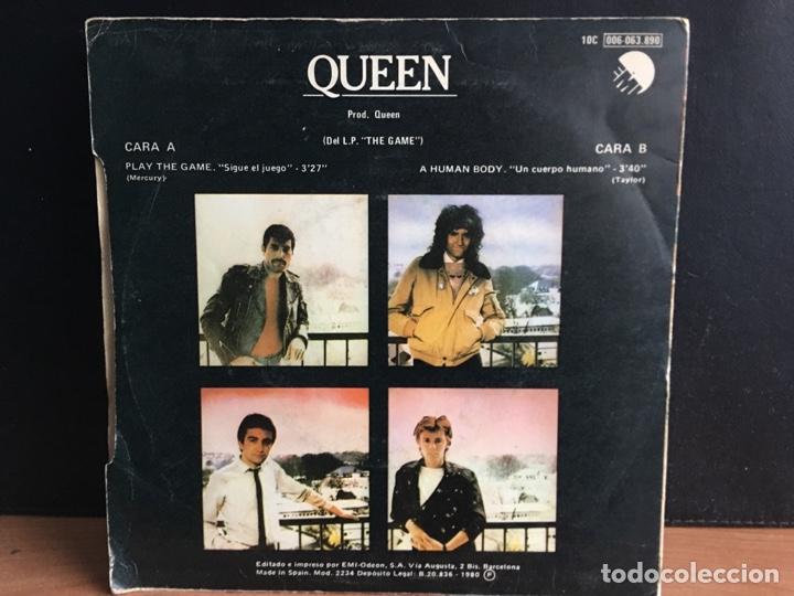 Discos de vinilo: Queen - Play The Game = Sigue El Juego (Single) (EMI) 10C 006-063 890 (D:VG+) - Foto 2 - 194309190