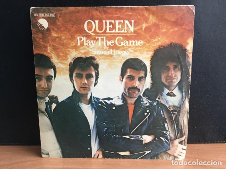 QUEEN - PLAY THE GAME = SIGUE EL JUEGO (SINGLE) (EMI) 10C 006-063 890 (D:VG+) (Música - Discos - Singles Vinilo - Pop - Rock - Extranjero de los 70)