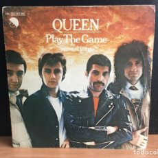 Discos de vinilo: QUEEN - PLAY THE GAME = SIGUE EL JUEGO (SINGLE) (EMI) 10C 006-063 890 (D:VG+). Lote 194309190