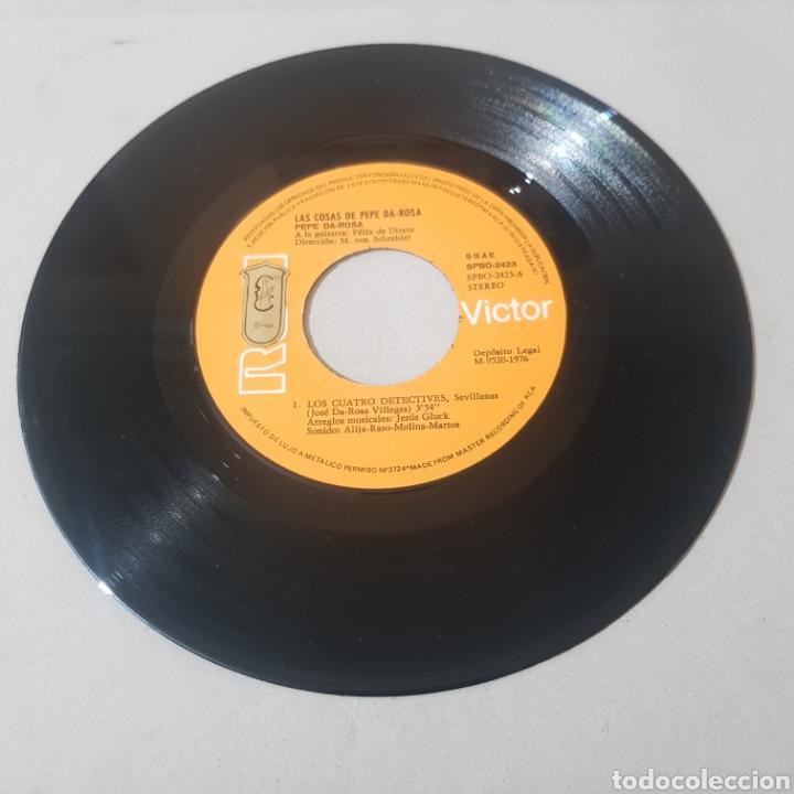 Discos de vinilo: LAS COSAS DE PEPE DA ROSA - LOS CUATRO DETECTIVES - SEVILLANAS - Foto 3 - 194309313
