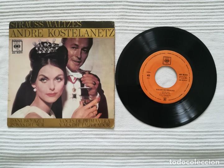 VINILO ANDRÉ KOSTELANETZ: VALSES DE STRAUSS (Música - Discos - Singles Vinilo - Clásica, Ópera, Zarzuela y Marchas)