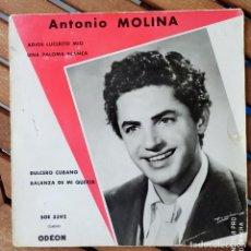 Discos de vinilo: ANTONIO MOLINA / IMPRESO EN FRANCIA. Lote 194310561