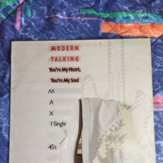 Discos de vinilo: MODERN TALKING YOU'RE MY HEART YOU'RE MY SOUL. Lote 194311235