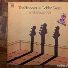 Discos de vinilo: THE SHADOWS – 20 GOLDEN GREATS = 20 GRANDES EXITOS SELLO: REFLEJO – 10 C 176-06581/2 FORMATO: 2LPS. Lote 194312445