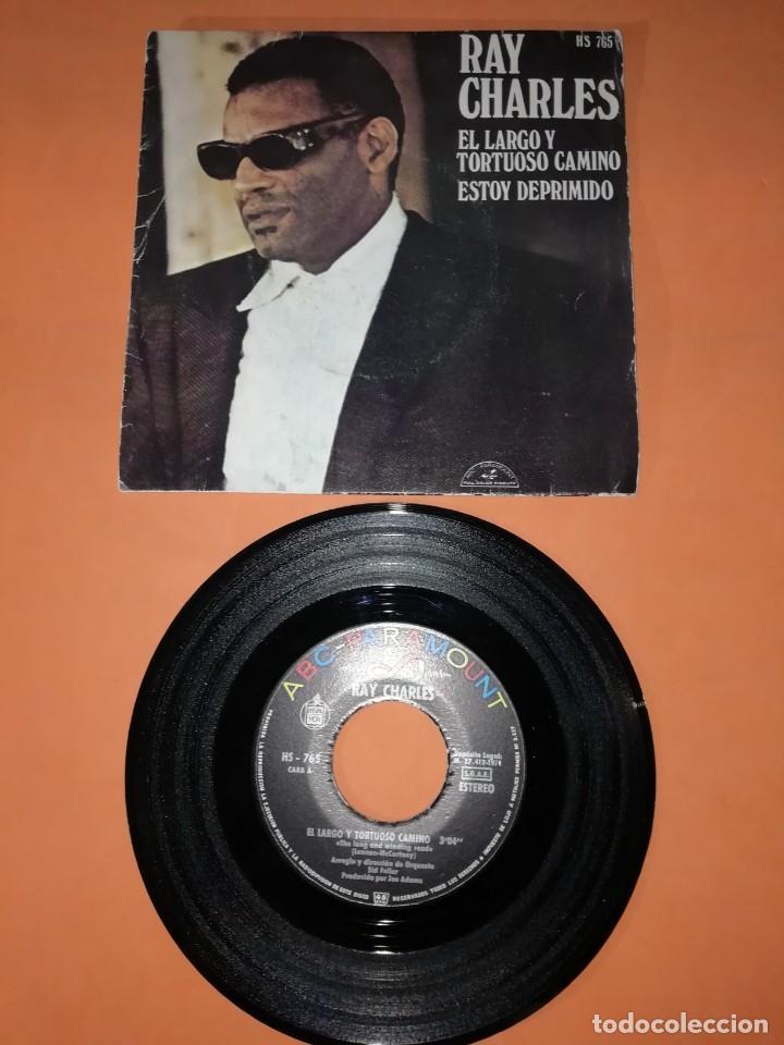 RAY CHARLES. EL LARGO Y TORTUOSO CAMINO. HISPAVOX RECORDS. 1971 (Música - Discos - Singles Vinilo - Funk, Soul y Black Music)