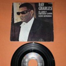 Discos de vinilo: RAY CHARLES. EL LARGO Y TORTUOSO CAMINO. HISPAVOX RECORDS. 1971. Lote 194313640