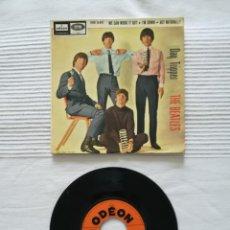Discos de vinilo: UNA CARÁTULA Y UN SINGLE DE LOS BEATLES. Lote 194313857
