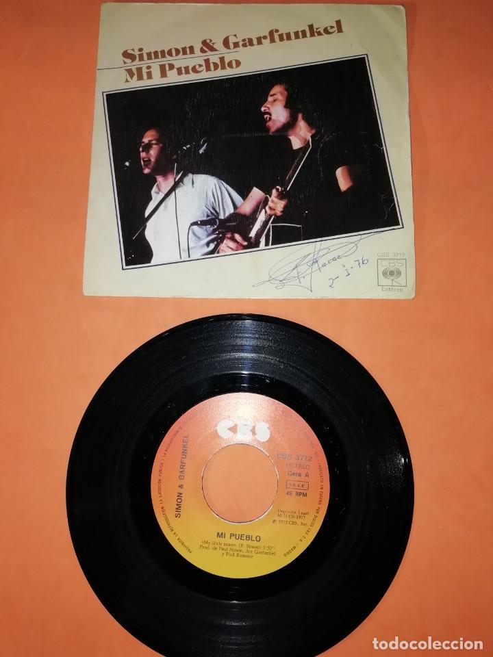 SIMON & GARFUNKEL. MI PUEBLO. CBS 1975. (Música - Discos - Singles Vinilo - Pop - Rock - Extranjero de los 70)