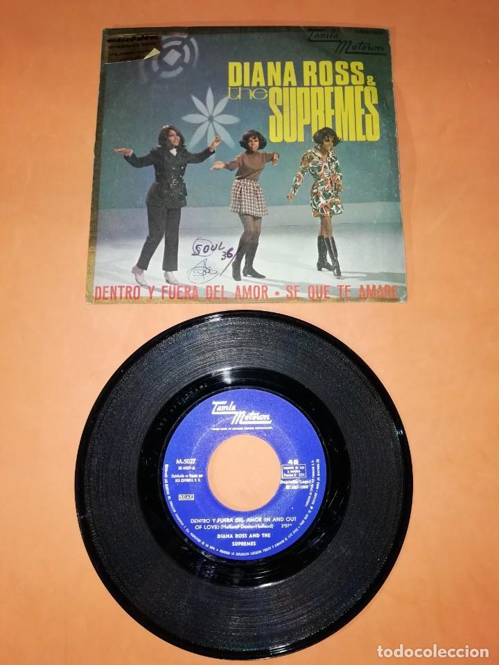 DIANA ROSS. & THE SUPREMES. DENTRO Y FUERA DEL AMOR. TAMLA MOTOWN. 1968 (Música - Discos - Singles Vinilo - Funk, Soul y Black Music)