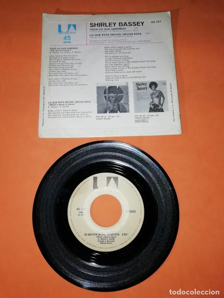 Discos de vinilo: SHIRLEY BASSEY. TODO LO QUE SABEMOS. UNITED ARTISTIS RECORDS 1971 . - Foto 2 - 194321008