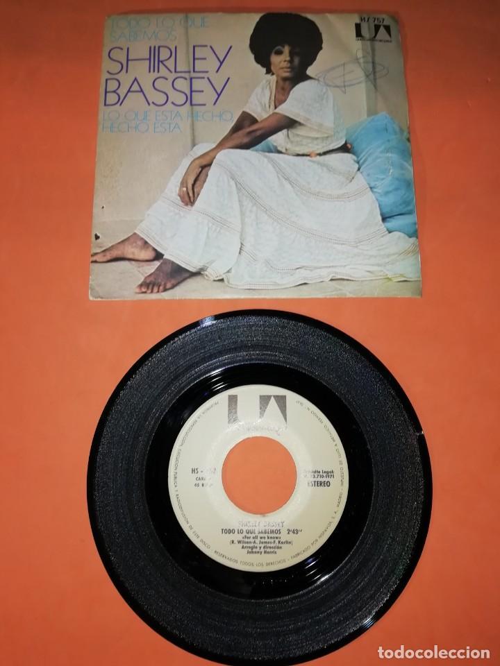 SHIRLEY BASSEY. TODO LO QUE SABEMOS. UNITED ARTISTIS RECORDS 1971 . (Música - Discos - Singles Vinilo - Funk, Soul y Black Music)