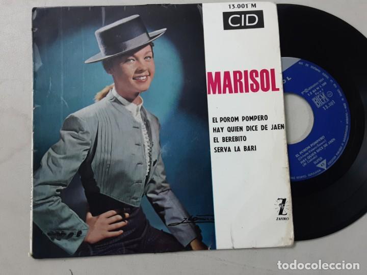 MARISOL, EL POROM POMPERO, HAY QUIEN DICE DE JAÉN, EL BEREBITO, SERVA LA BARI, ED. FRANCESA (Música - Discos de Vinilo - EPs - Solistas Españoles de los 50 y 60)